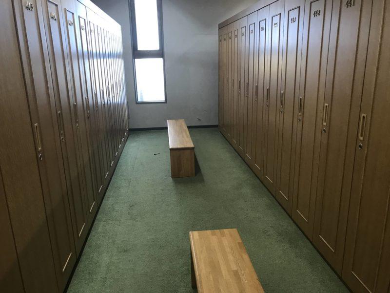 皆川城カントリークラブのロッカールーム
