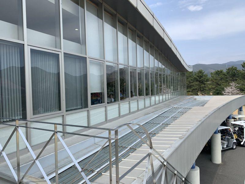 足利カントリークラブ飛駒コースのクラブハウス2階