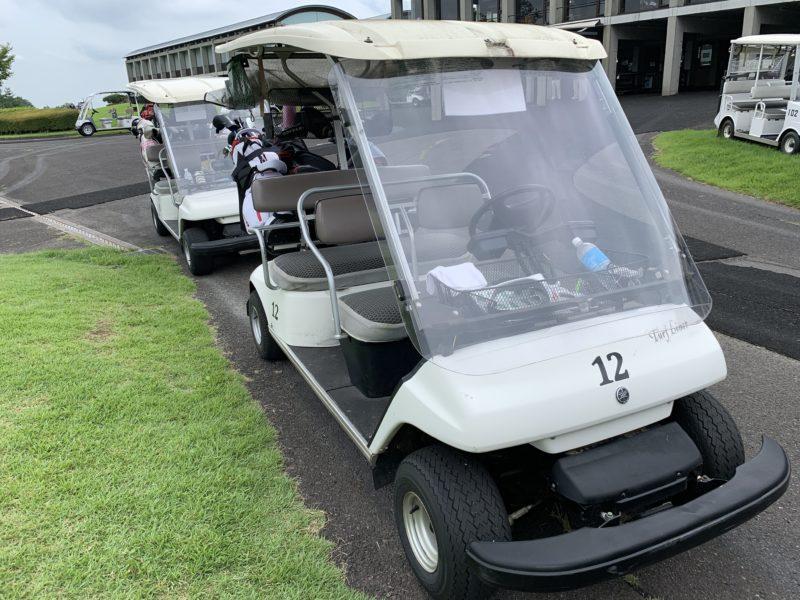 白河ゴルフ倶楽部のカート