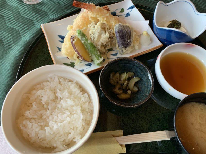 白河高原カントリークラブの天ぷら定食